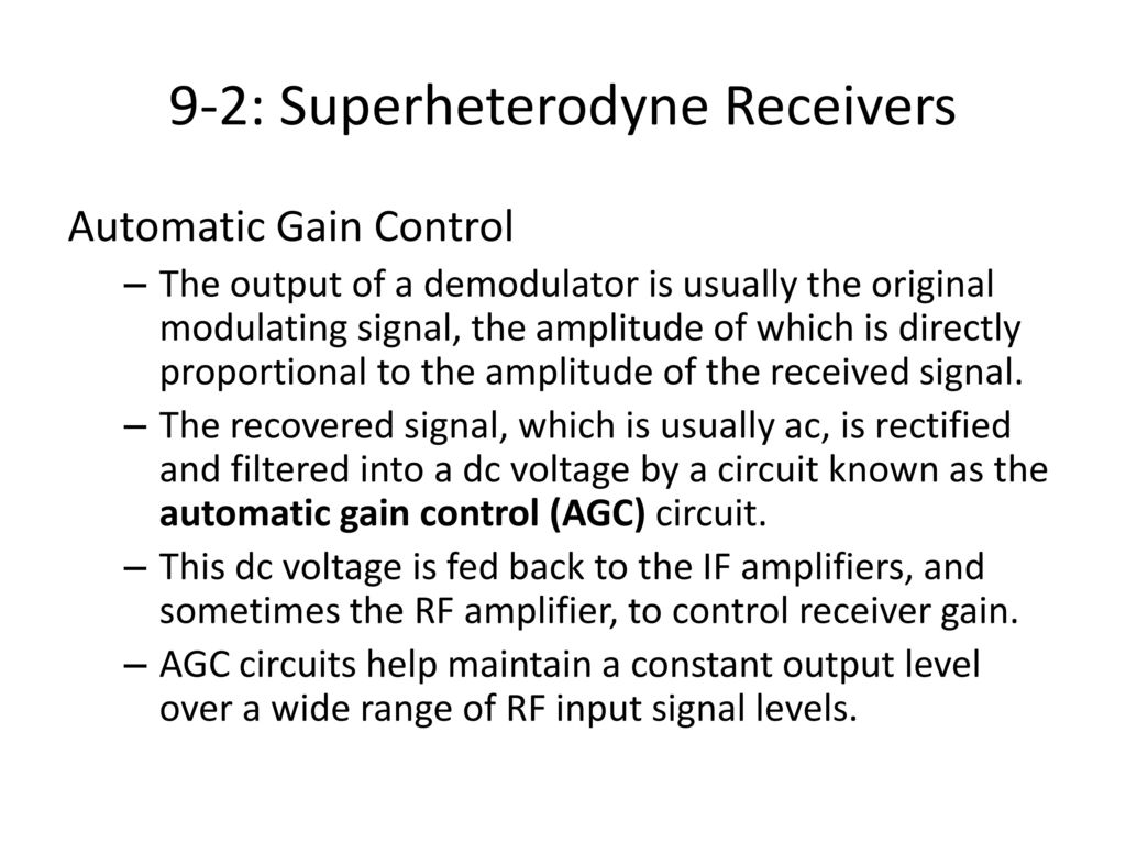 Communication receivers ppt download 9 2 superheterodyne receivers pooptronica