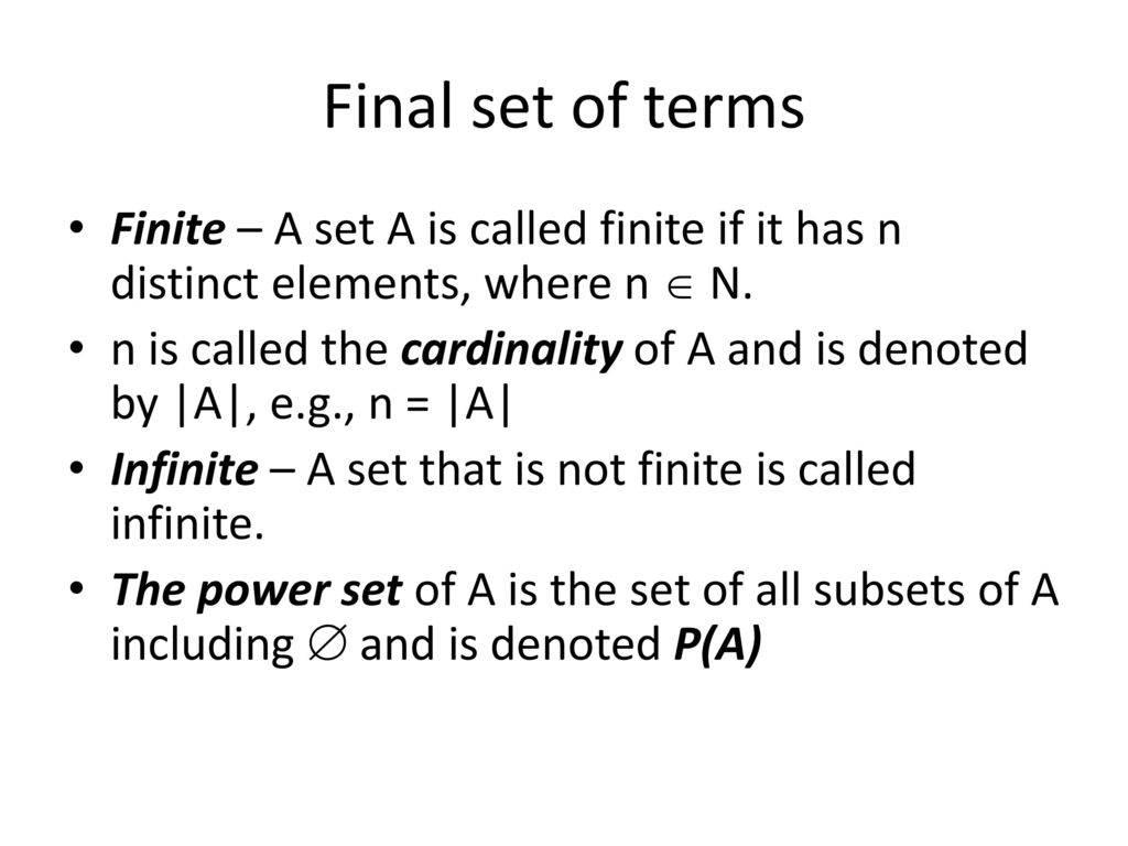 Cardinality of a set symbol gallery symbol and sign ideas dr ameria eldosoky discrete mathematics ppt download final set of terms finite a set a is biocorpaavc