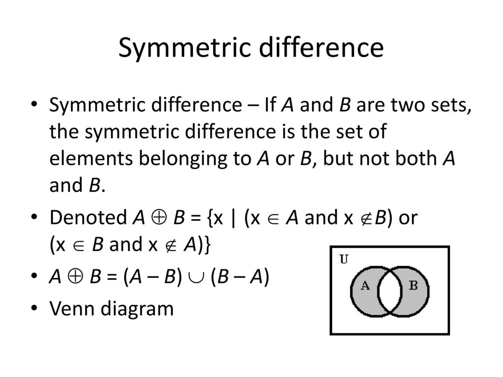 Dr ameria eldosoky discrete mathematics ppt download 30 symmetric difference pooptronica Image collections