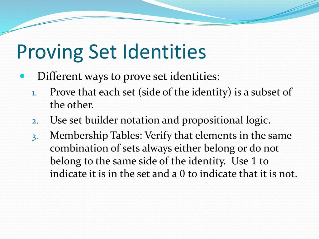 Basic structures sets functions sequences sums and matrices 39 proving set identities biocorpaavc Image collections