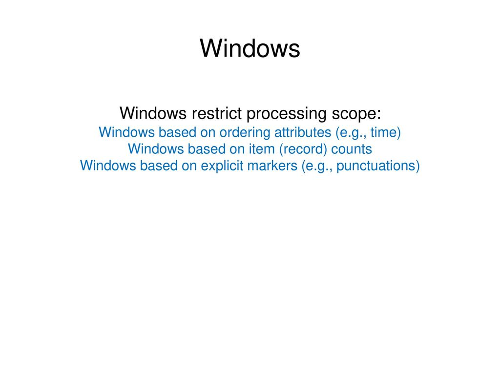 Windows Windows restrict processing scope: