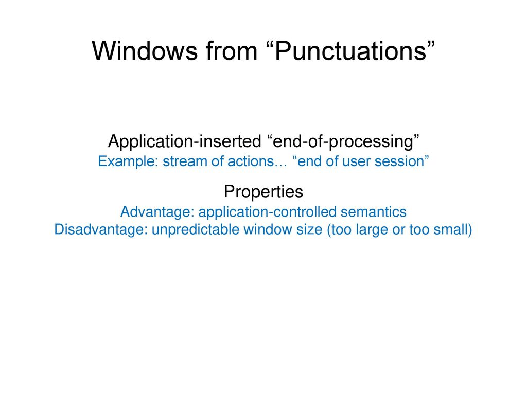 Windows from Punctuations