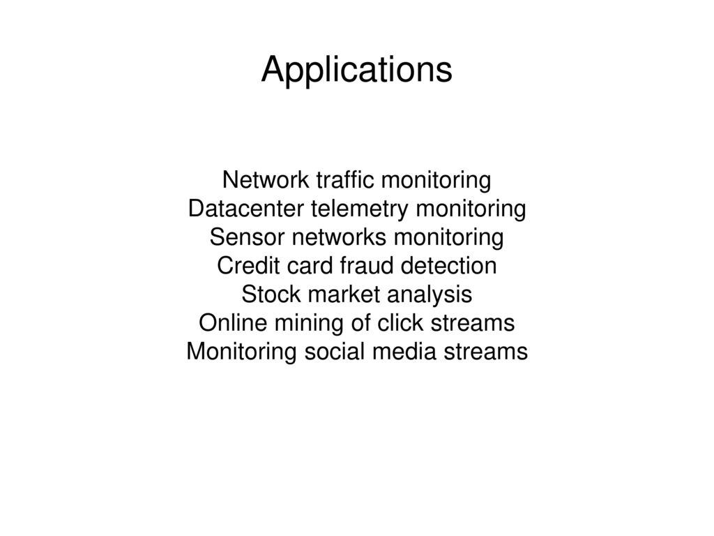 Applications Network traffic monitoring