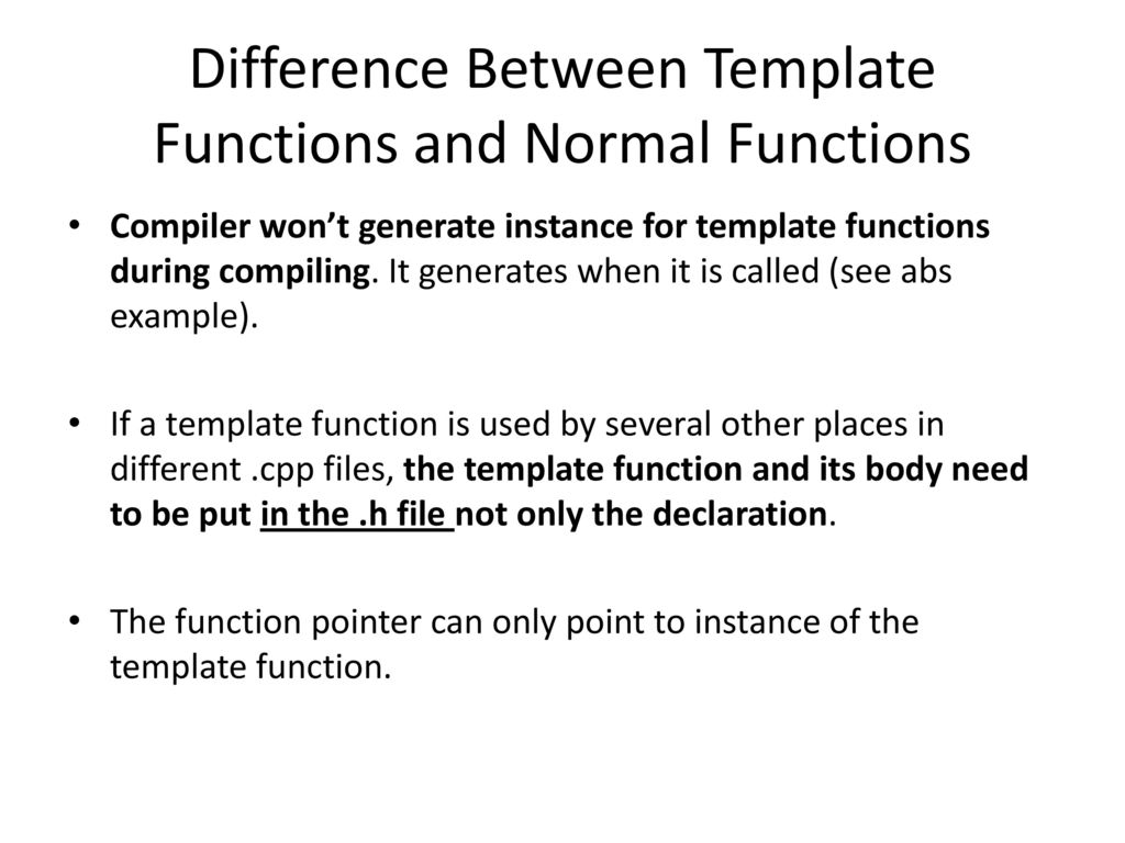 C++ Template. - ppt download