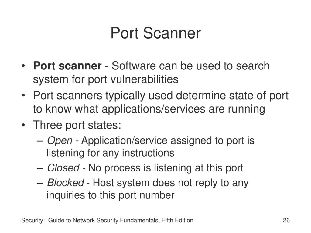 how to know if a port is open