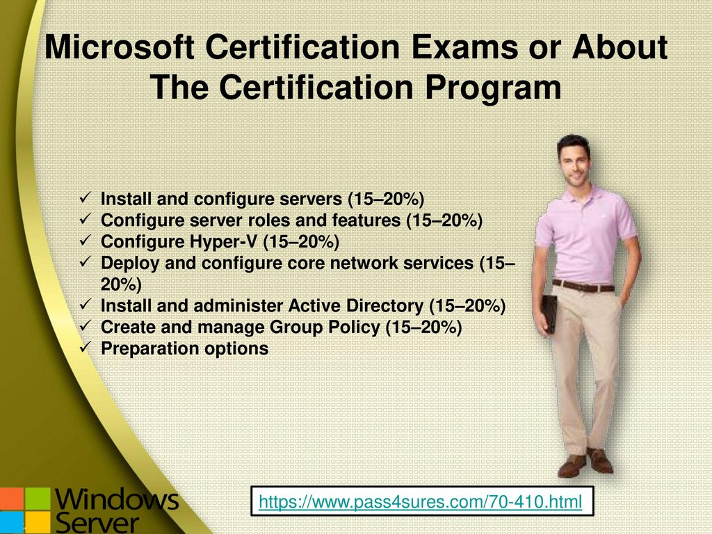 Installing and configuring windows server ppt download 4 microsoft certification exams or about the certification program 1betcityfo Images