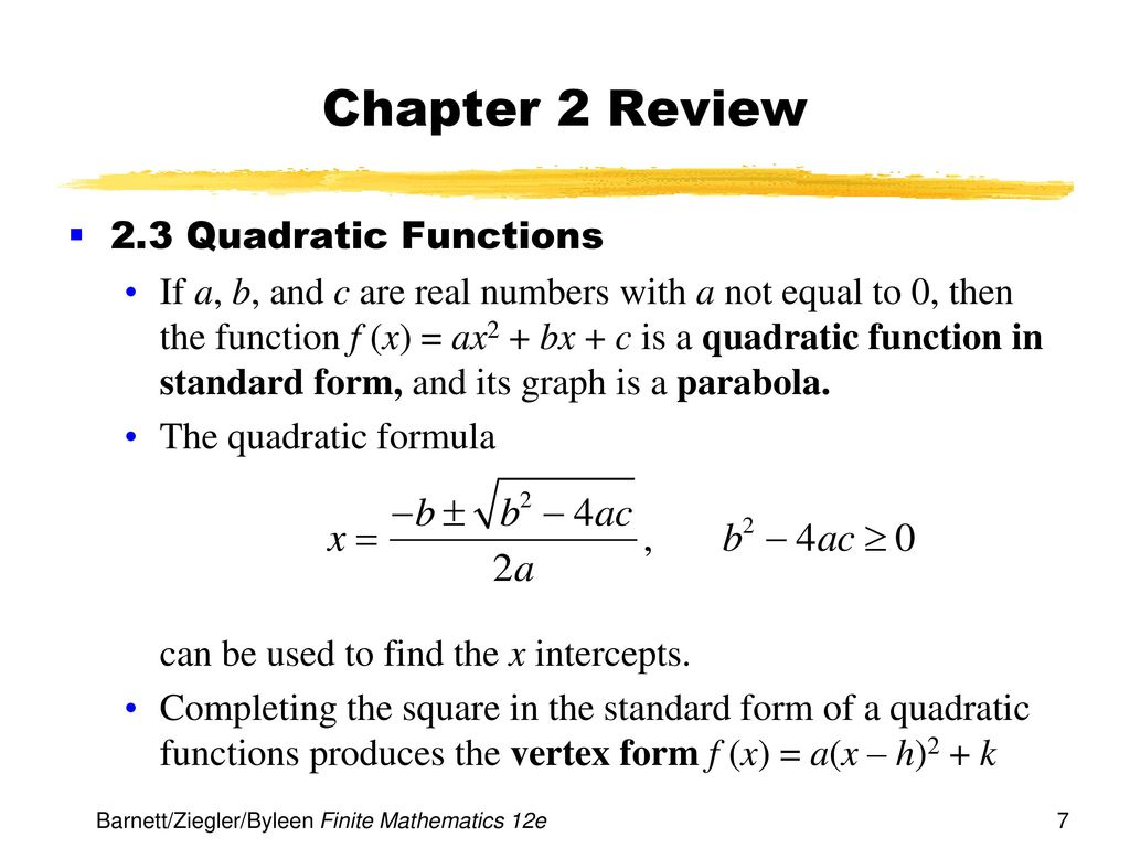 Chapter 2 functions and graphs ppt download chapter 2 review 23 quadratic functions falaconquin