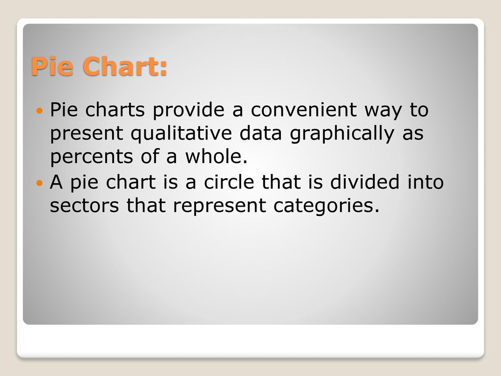 Statistics more graphs and displays ppt download 7 pie chart nvjuhfo Image collections