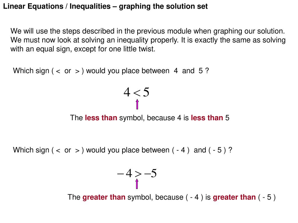 Linear equations inequalities graphing the solution set ppt 13 linear equations buycottarizona Image collections