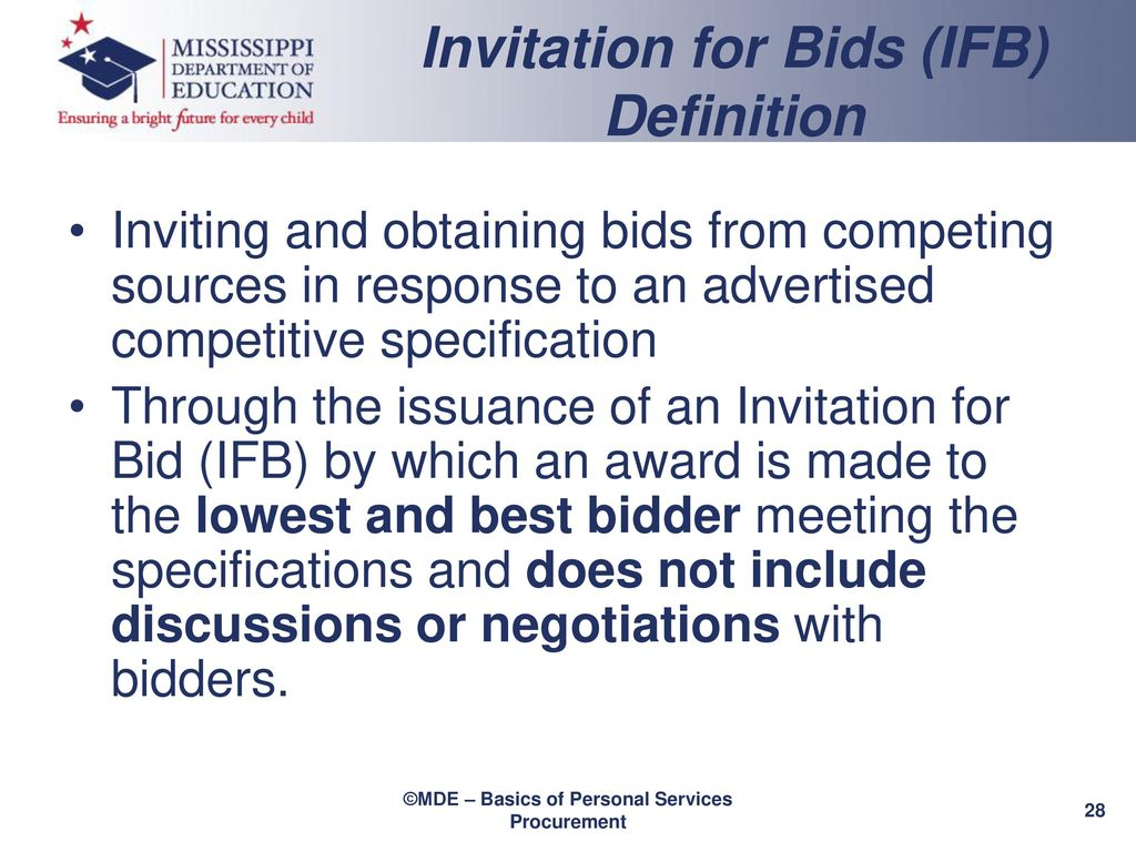The office of procurement personal services contracting ppt download 28 invitation for bids ifb definition stopboris Image collections