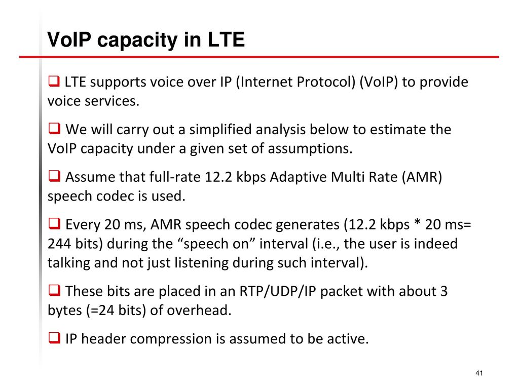 O long term evolution lte ppt download voip capacity in lte lte supports voice over ip internet protocol voip baditri Gallery