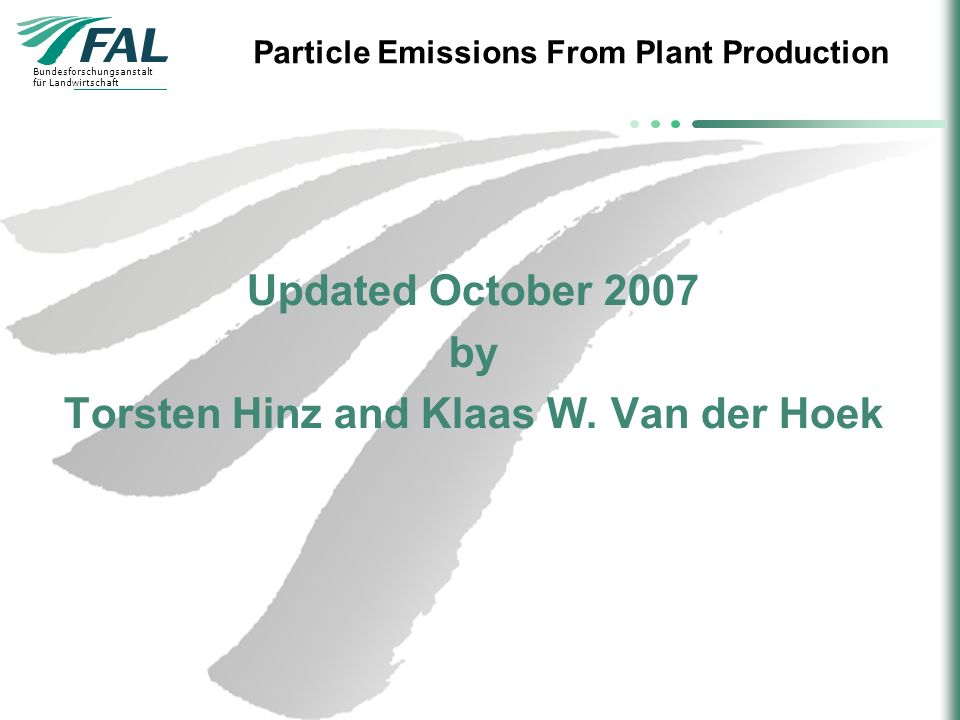 Updated October 2007 by Torsten Hinz and Klaas W. Van der Hoek