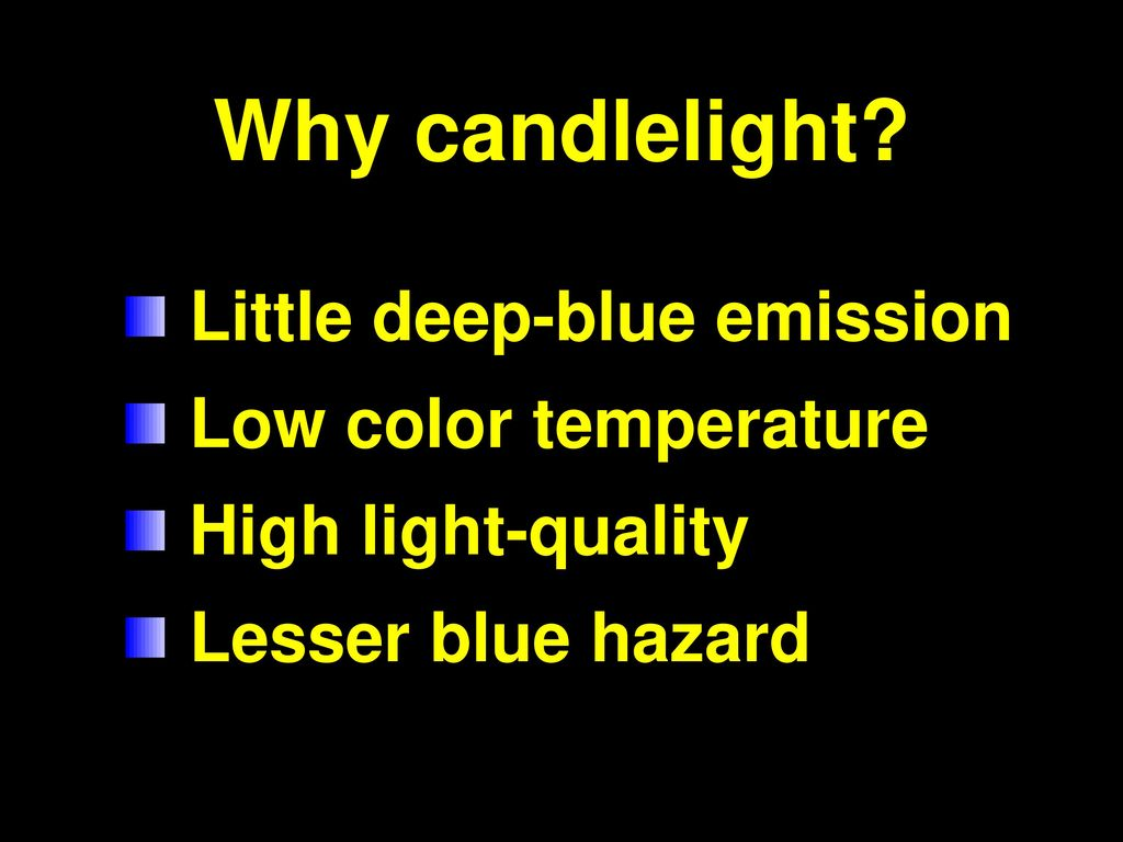 Why Candlelight Little Deep Blue Emission Low Color Temperature
