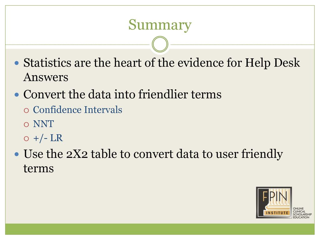 Summary Statistics Are The Heart Of Evidence For Help Desk Answers