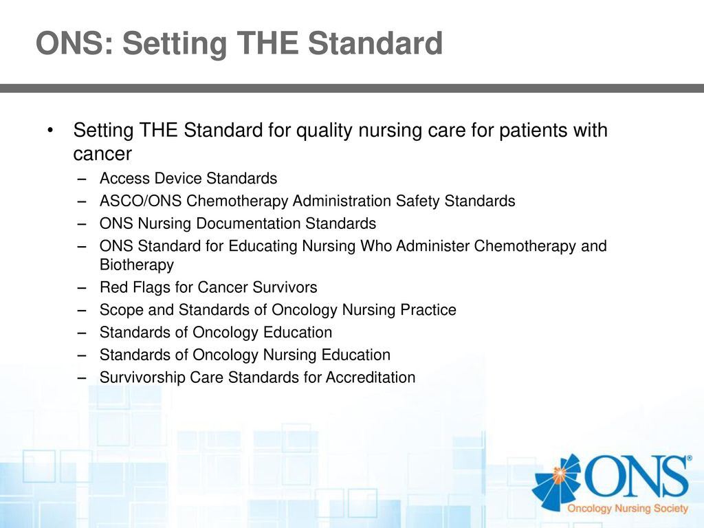 Oncology nursing society ppt download 7 ons setting the standard 1betcityfo Choice Image