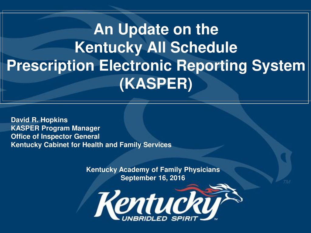 Awesome Prescription Electronic Reporting System (KASPER)