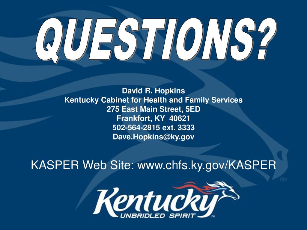 73 Kentucky Cabinet For Health And Family Services QUESTIONS? David R.  Hopkins Kentucky Cabinet For Health ...