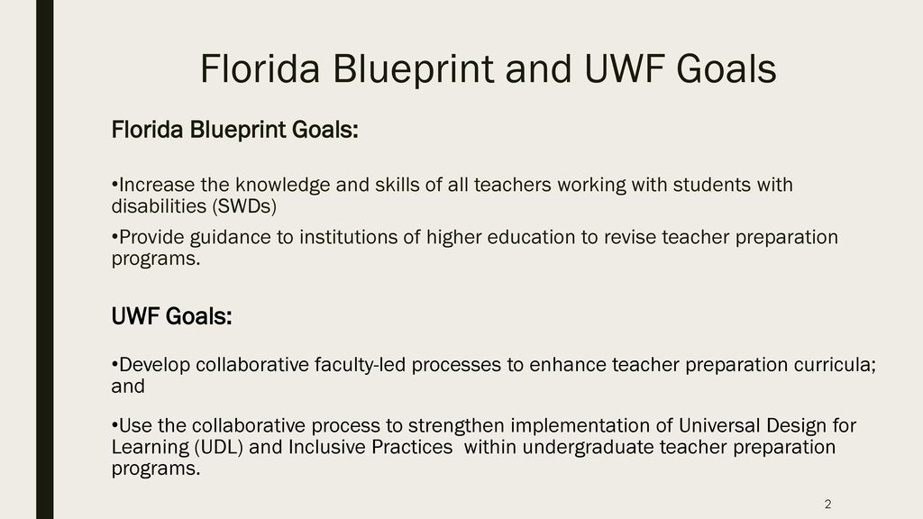 Preparing pre service teacher candidates for inclusive settings florida blueprint and uwf goals malvernweather Images