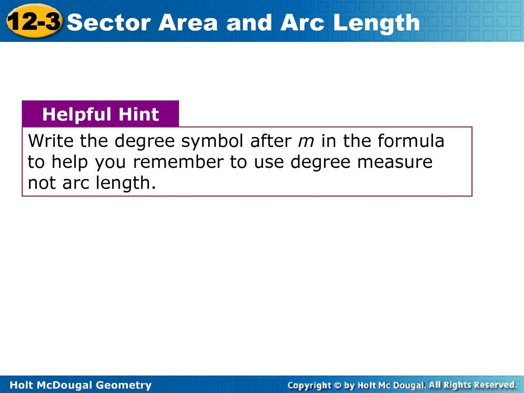 Degree symbol in text image collections symbols and meanings objectives find the area of sectors find arc lengths ppt download write the degree symbol after biocorpaavc Image collections