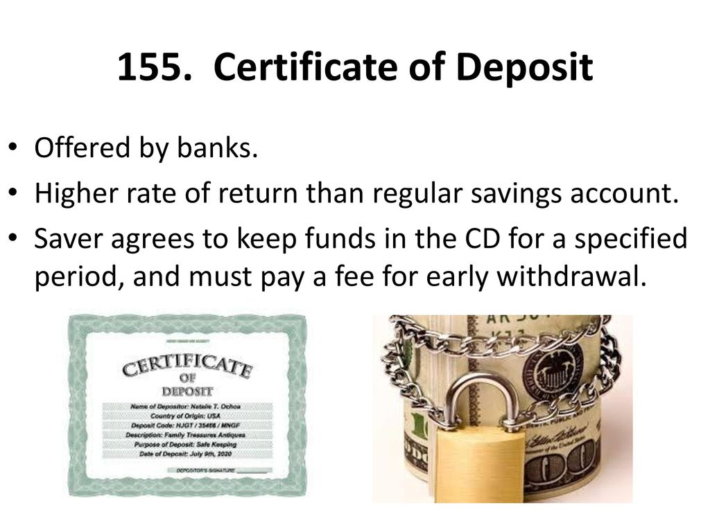 Unit 5 personal finance ppt download certificate of deposit 1betcityfo Images