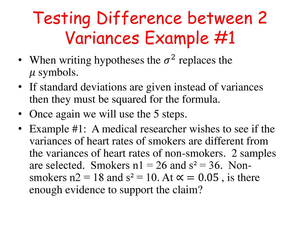 Testing difference among mean variances and proportions chapter testing difference between 2 variances example 1 biocorpaavc Images