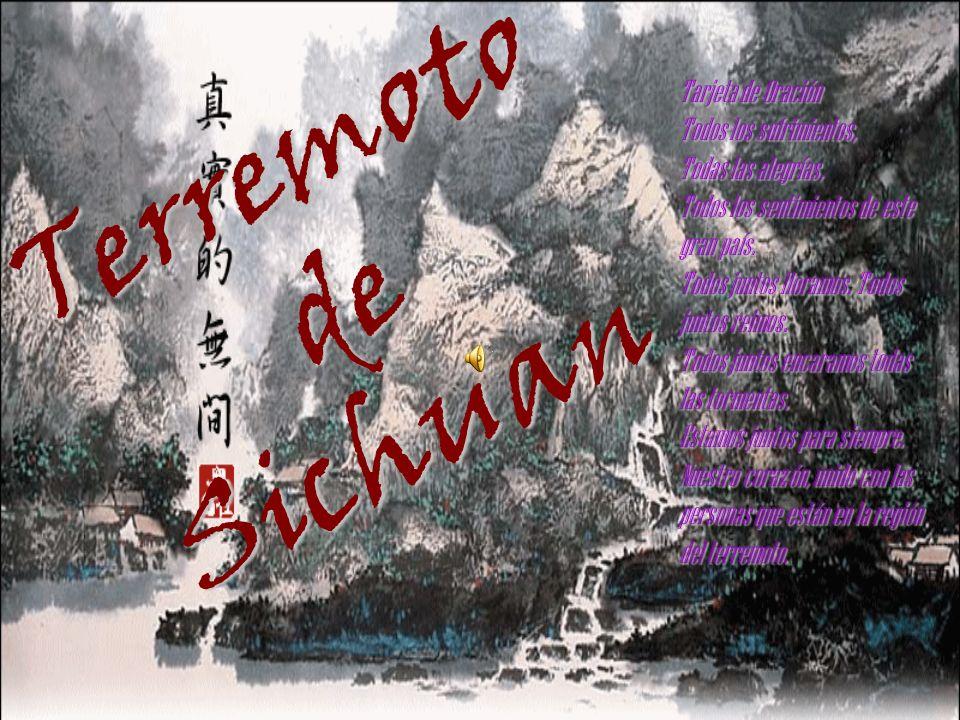 Terremoto de Sichuan Tarjeta de Oración