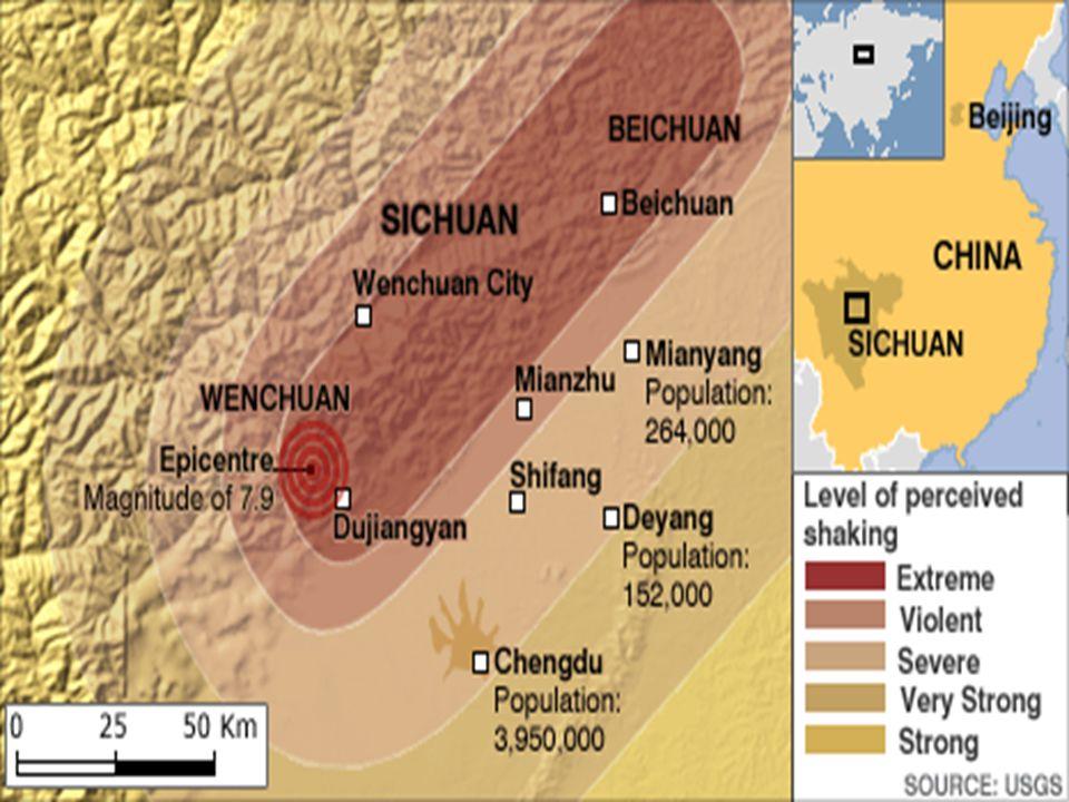 El lugar más cercano al epicentro, Wenchuan