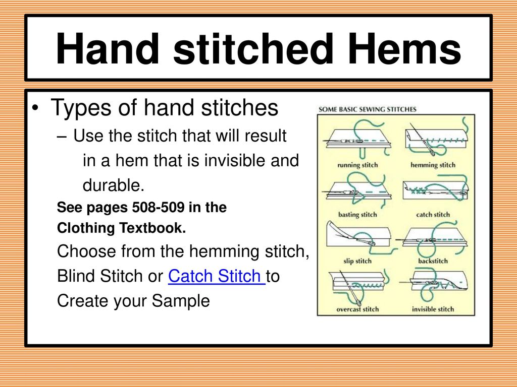 different types of stitches pdf