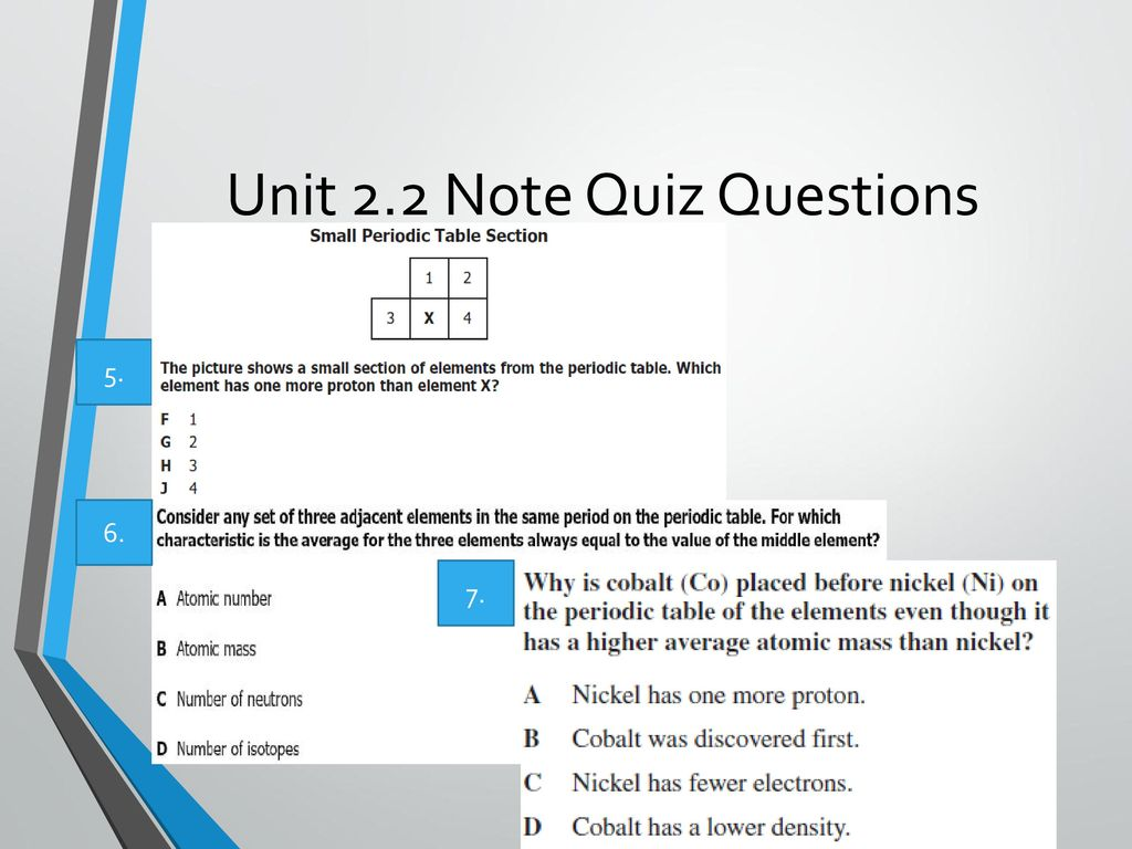 Unit 2 the atomic model of matter ppt download unit 22 note quiz questions urtaz Image collections