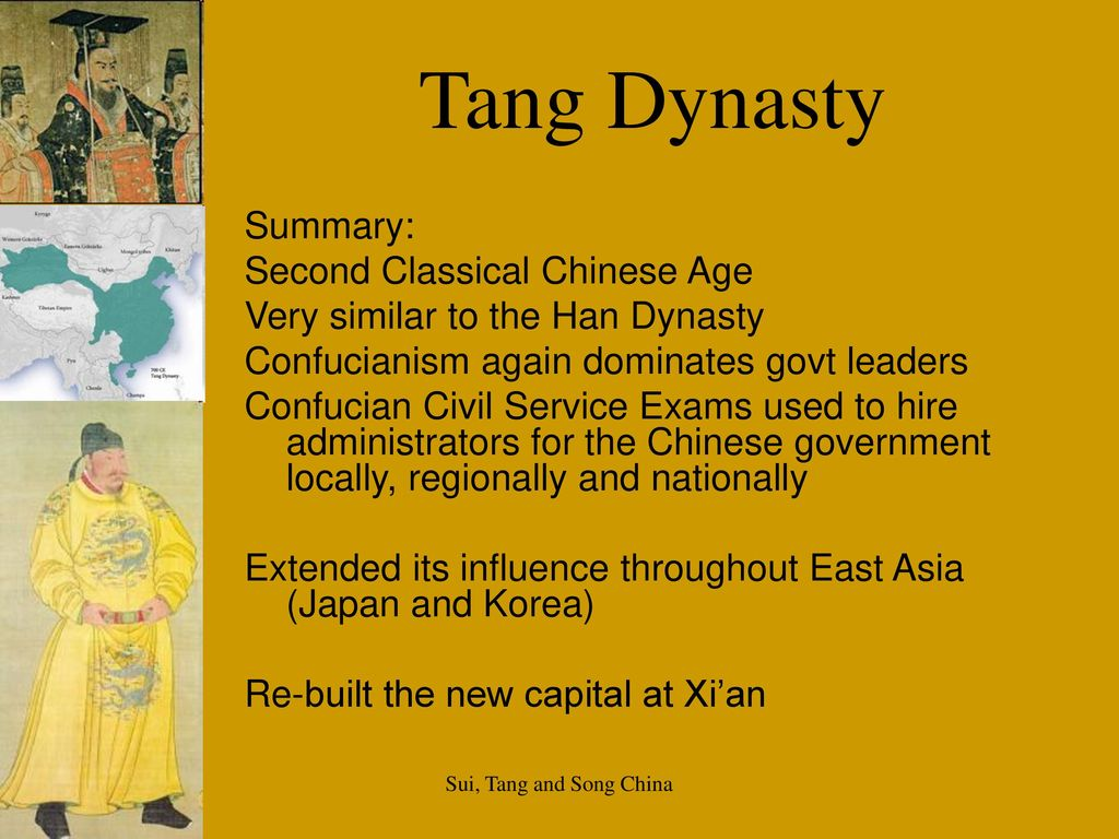 Tang dynasty ce sui tang and song china ppt download tang dynasty summary second classical chinese age biocorpaavc Choice Image