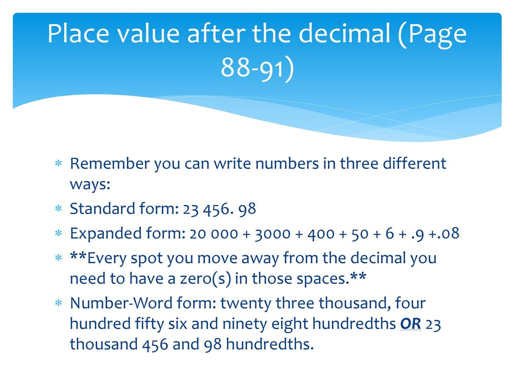 Unit 2 integers ppt download place value after the decimal page 88 91 falaconquin