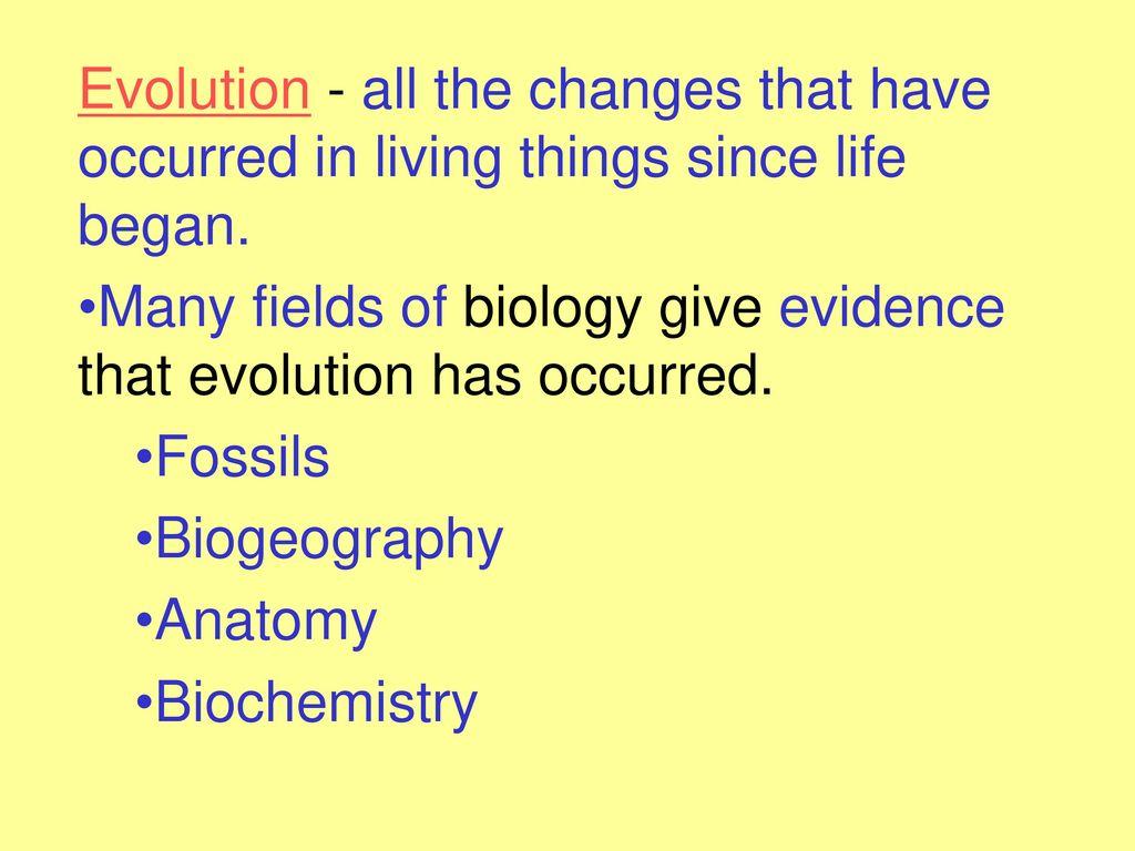worksheet Biochemical Evidence For Evolution Worksheet chapter 15 evolution ppt download 2 evolution