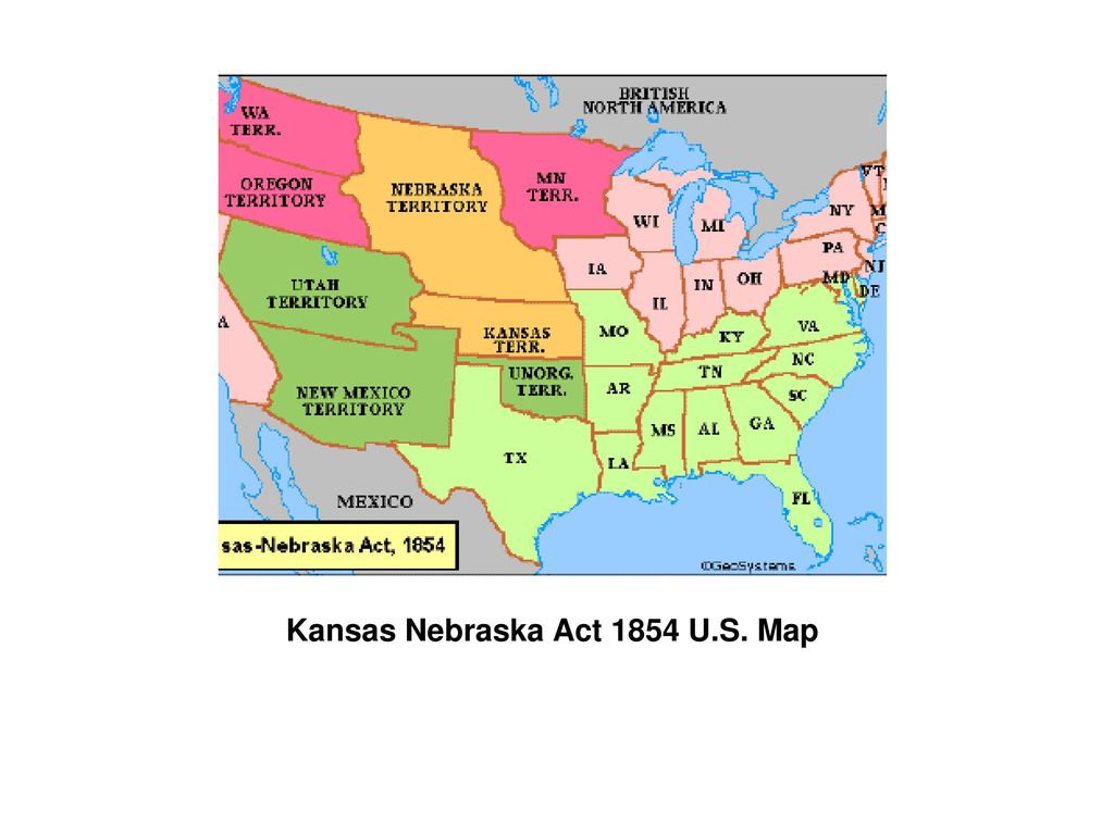 Map of us in 1854