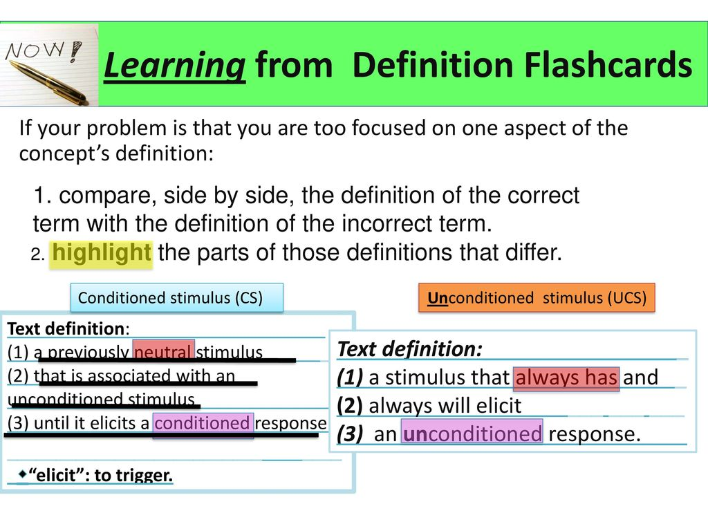 Learning From Definition Flashcards
