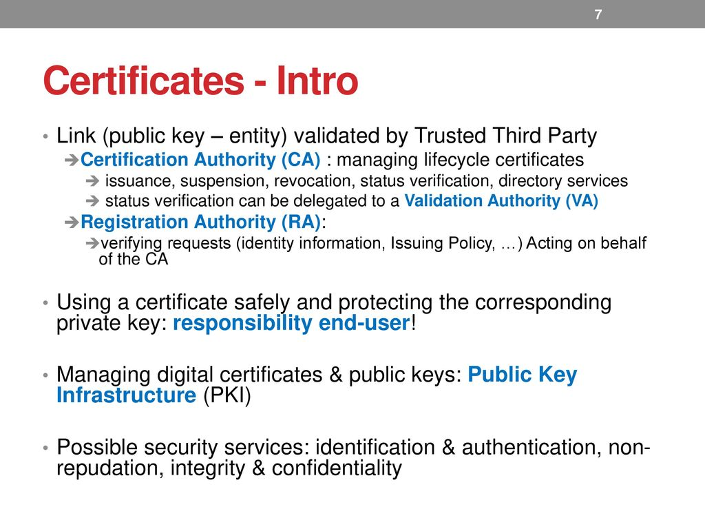 Certificates infoday welcome ppt download certificates intro link public key entity validated by trusted third party 1betcityfo Choice Image