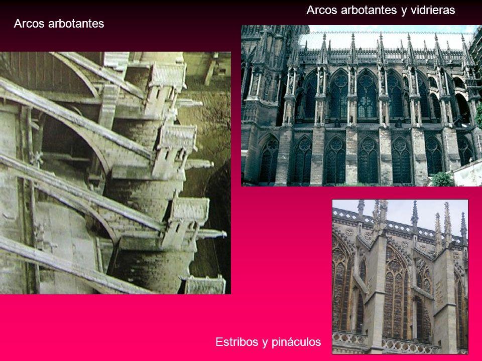 Arcos arbotantes y vidrieras