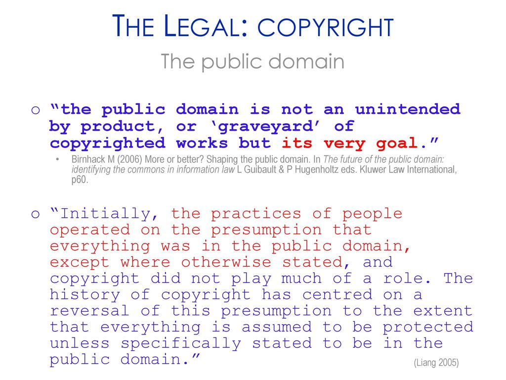The Legal Copyright The Public Domain