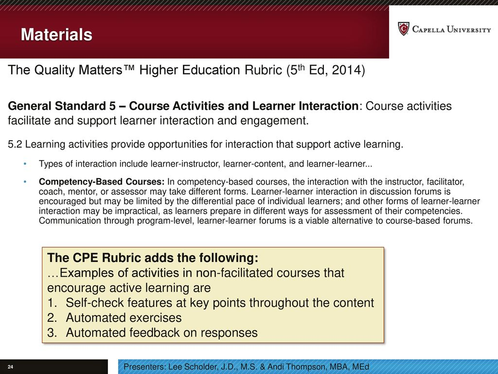 Flexible trends in education ppt download materials the quality matters higher education rubric 5th ed 2014 1betcityfo Images