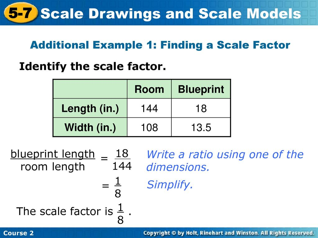 Scale drawings and scale models ppt download additional example 1 finding a scale factor malvernweather Image collections