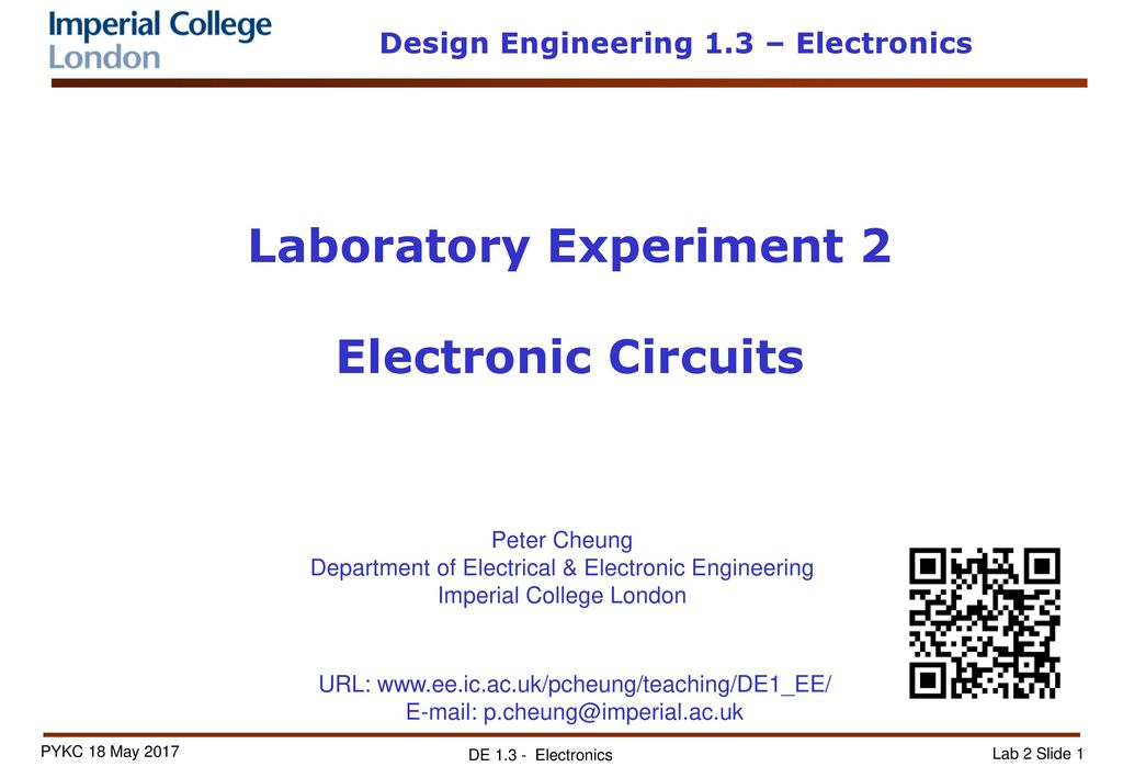 Laboratory Experiment 2 Electronic Circuits - ppt download