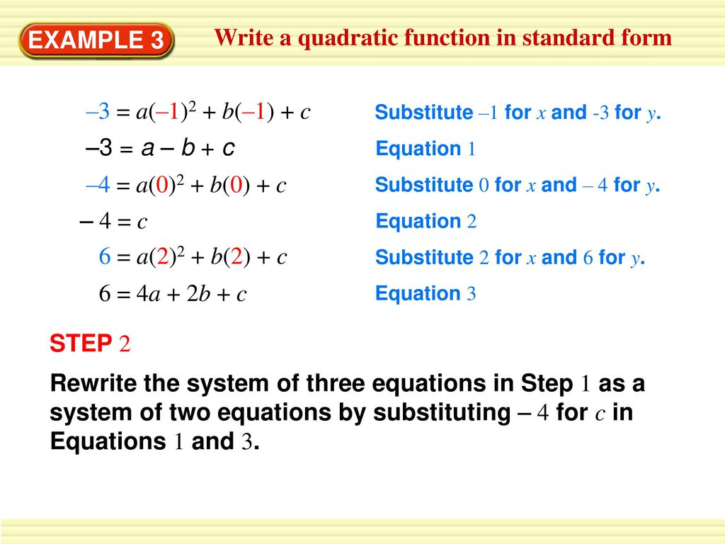 Write a quadratic function in vertex form ppt download write a quadratic function in standard form falaconquin