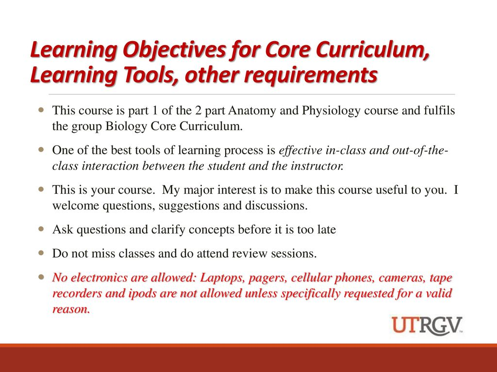 Lujo Anatomy And Physiology Course Objectives Ornamento - Imágenes ...