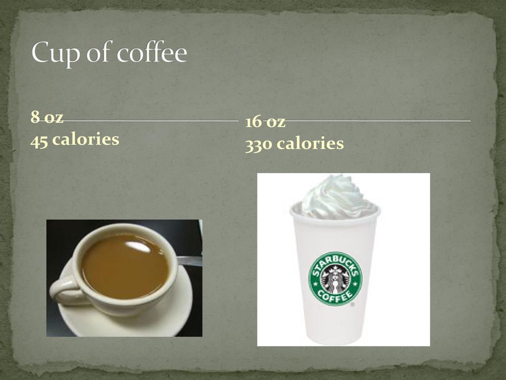11 Cup Of Coffee 8 Oz 45 Calories 16 330