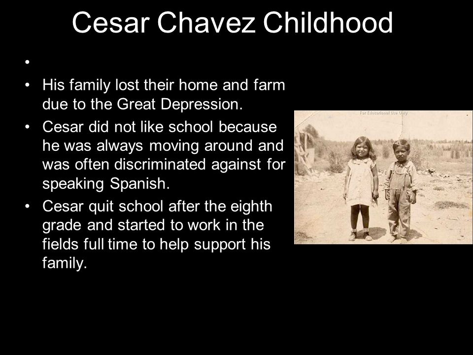 Cesar Chavez Childhood