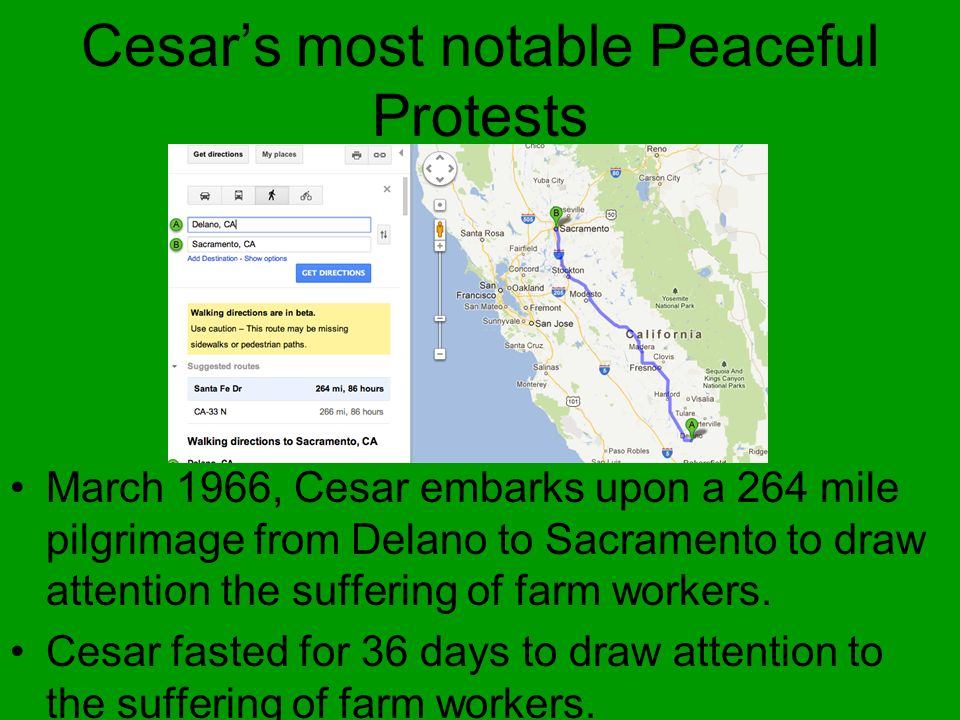 Cesar's most notable Peaceful Protests