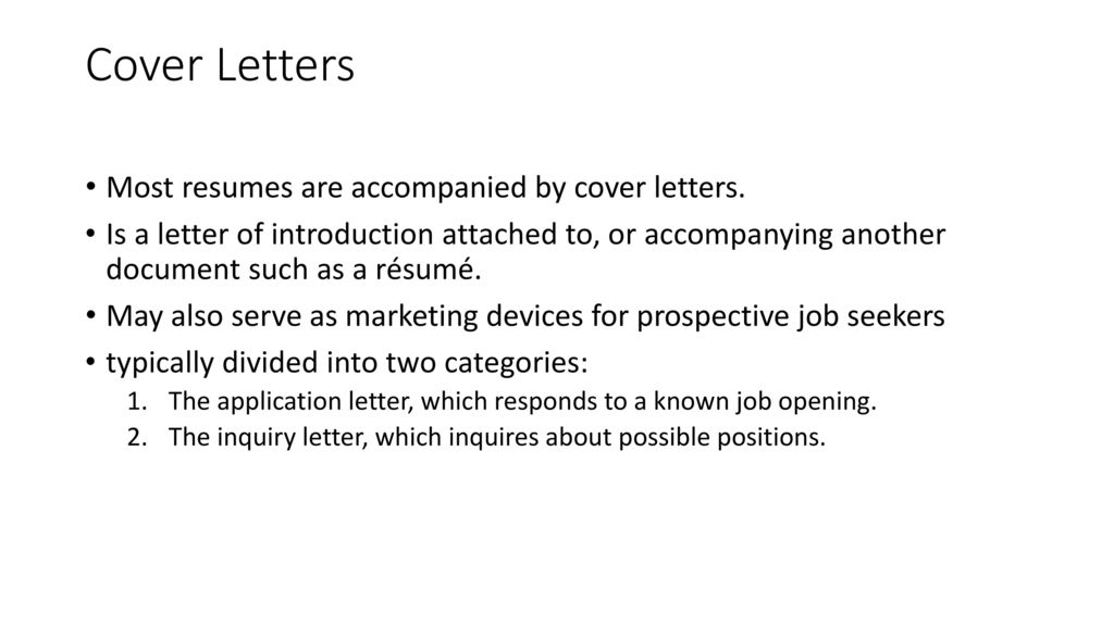 cover letters are typically in how many categories - Bare ...