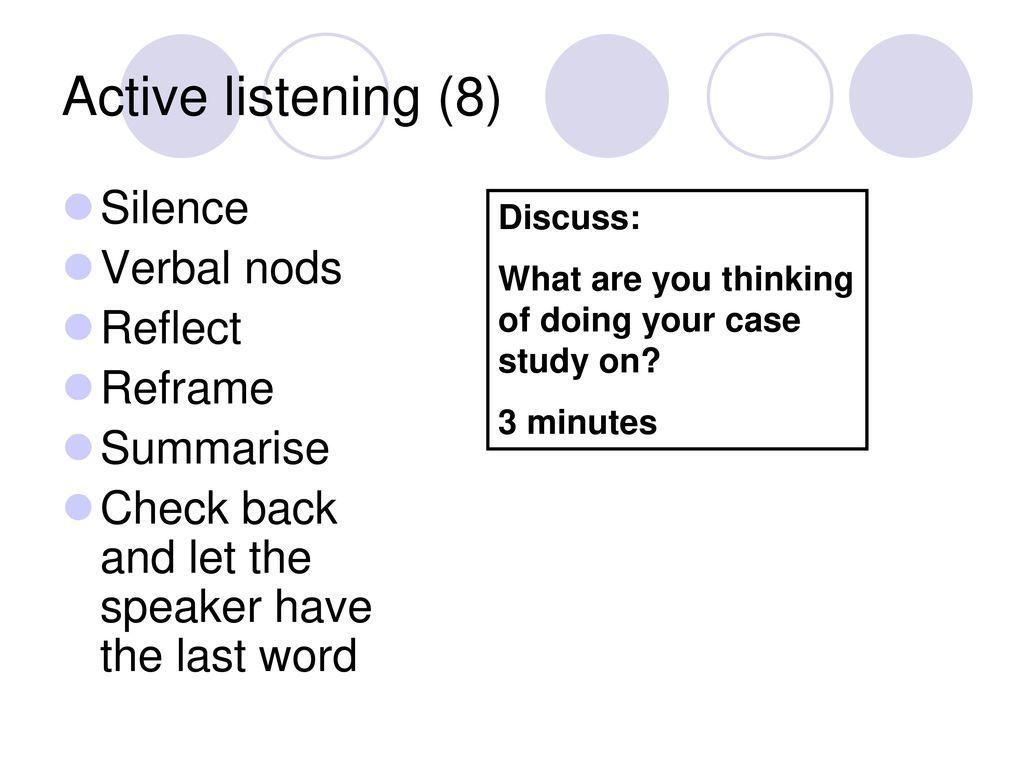 Active Listening Skills - California State University ...