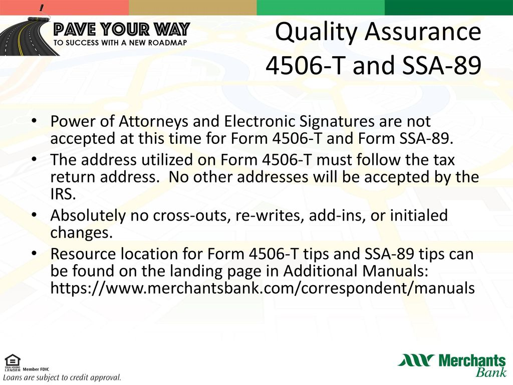 Answers to questions you have ppt download quality assurance 4506 t and ssa 89 falaconquin