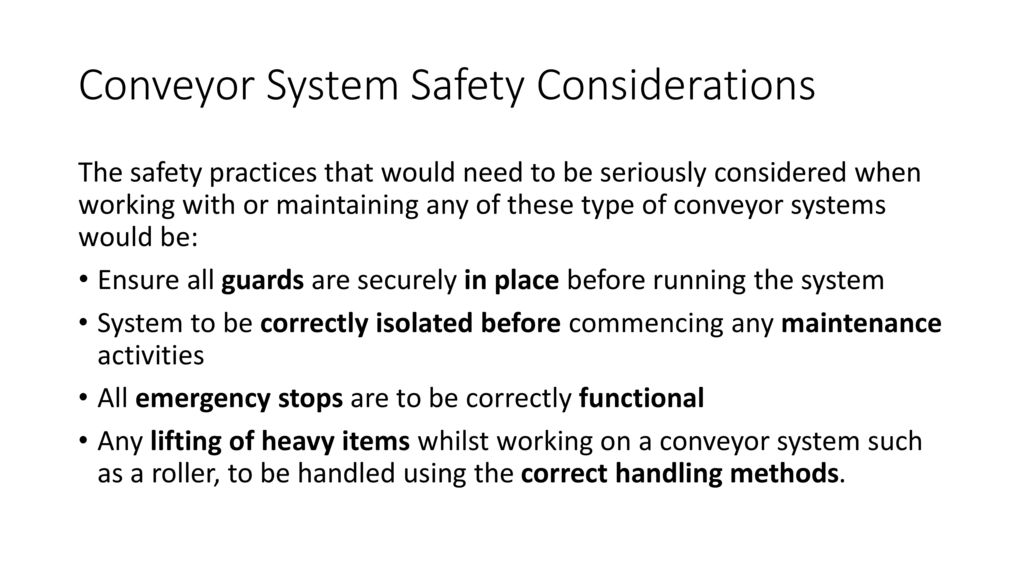 Conveyor System Safety Considerations