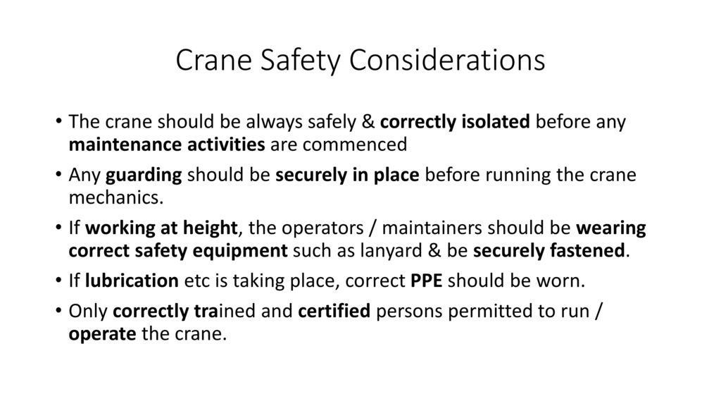 Crane Safety Considerations